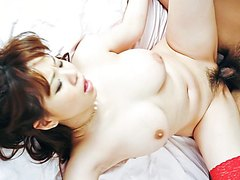 Sweet maid, Aoi M..., pleases two tasty cocks - More at j....net