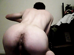 Long Dildo Up Hairy Hole