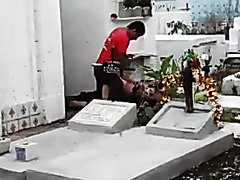 couple has sex on graveyard