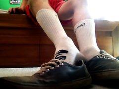 Trashed vans skate shoes