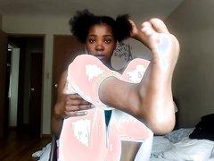 Ebony Self Foot Worship