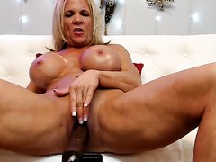 Fit MILF Grinds With Her Fuck Machine