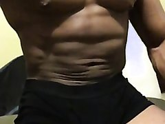 Sexy muscle flex show