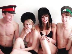 2 Russian Girls, 2 Russian Boys, Just a Quick Cute Video x2