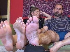 cuck licking bull's feet