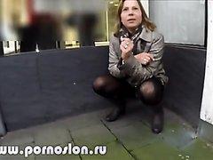 Pissing on a corner