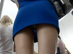 Reality subway up-skirt footage