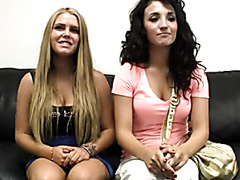 Teen girls go trough casting together
