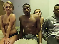 Black guys stuffing horny white chicks