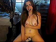 Webcam girl masturbating and cumming