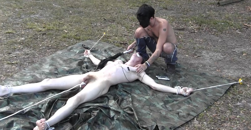 pictures and Outdoor bondage and