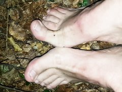 Barefoot in forest 1