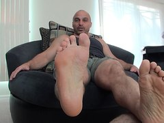 Slave licks Master's feet Part 1