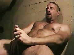 Musky Daddy Jerks Off In Basement