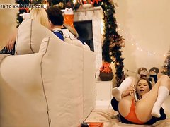 Horny Sisters Get Brothers Cock For Xmas