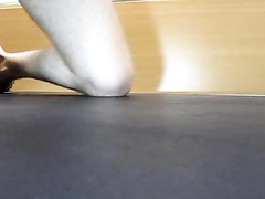 Rubbing Cock on Floor to Cum