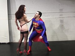 Superman Fighting a woman