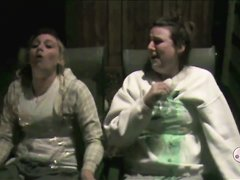 2 Girls vomit colorful milk all over themselves-Part 2