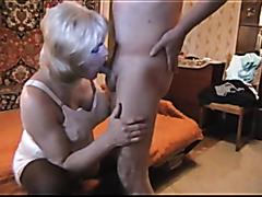 Sexy milf sucks and fucks