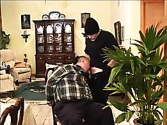 Fat mature guys having hardcore sex