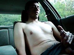 HOT MAN SHY JACKOFF IN CAR