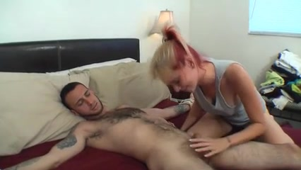 Guy cums on fat girl