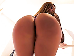 Big ass slut takes a fat cock in the ass