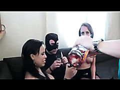 Horny sluts rammed in a hot group sex party