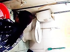 Pissing on toilet floor