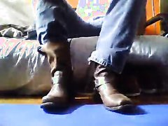 Degrade yourself on my cowboy boots