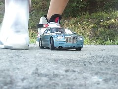 Jock stomps on RC cars