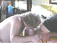 Sucking Cock in the Shed