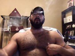 Hairy cigar bear with gar