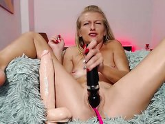 Sexy Petite Blond Cums With Her Toys