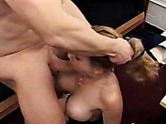 Big fake boobs blowjob