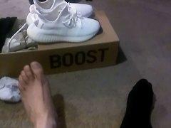 100K Views Thank You. My Yeezys, Nikes, Black Polo Socks & Feet
