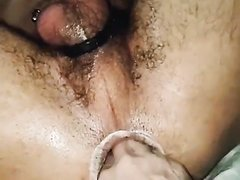 Fisting a hottie with a loose hole