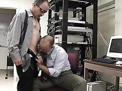 two businessmen suck each other's cock