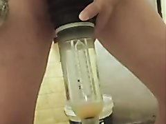 Insert egg in penis pump