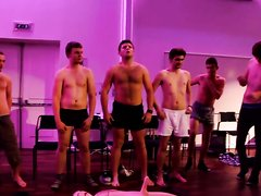 Rugby Lads Hypnotised to Strip