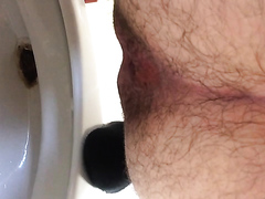 toilet shit from my hairy ass