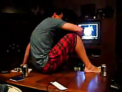 Drunk Guys Farting on Table