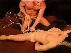 Man cums from ballbusting