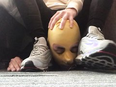 Slave worships sweaty socks and sneakers