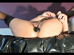 beauty girl stretch her anal