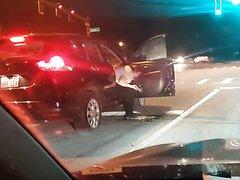 Car door puke!