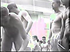 College wrestler weigh in