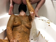 Slut smothered and rimming dirty ass