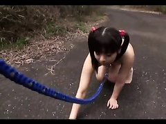 [Censored] Mating season for pissing Japanese dog girl Part 1
