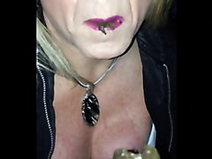 Milf eating shit in a public toilet 4